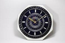 画像1: Gustavsberg/グスタフスベリ/スタジオ制作壁掛け時計/ネイビー/新品クロックムーブメント使用  (1)
