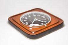 画像5: ビンテージ陶製壁掛け時計/KIENZLE製 /ドイツ/レンガ (5)