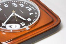 画像6: ビンテージ陶製壁掛け時計/KIENZLE製 /ドイツ/レンガ (6)