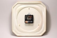 画像6: ビンテージ陶製壁掛け時計/vedette製 /フランス/キャメル✕レンガ (6)