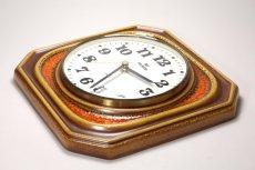 画像4: ビンテージ陶製壁掛け時計/vedette製 /フランス/キャメル✕レンガ (4)