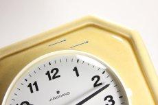 画像3: ビンテージ陶製壁掛け時計/Junghans製/ユンハンス/ドイツ/クリームイエロー (3)