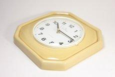 画像5: ビンテージ陶製壁掛け時計/Junghans製/ユンハンス/ドイツ/クリームイエロー (5)