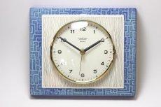 画像1: ビンテージ陶製壁掛け時計/Peter /ドイツ/ライトブルー (1)