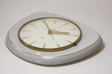 画像3: ビンテージ陶製壁掛け時計/Wehrle /ドイツ/ライトグレー (3)