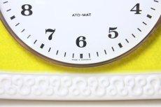 画像2: ビンテージ陶製壁掛け時計/Junghans製/ユンハンス/ドイツ/イエロー&ホワイト (2)