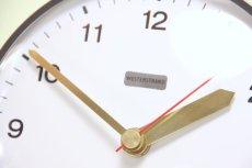 画像2: ビンテージ陶製壁掛け時計/Westerstrand/スウェーデン/ライムカラー&レッドダイヤ (2)