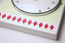 画像3: ビンテージ陶製壁掛け時計/Westerstrand/スウェーデン/ライムカラー&レッドダイヤ (3)