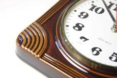 画像4: ビンテージ陶製壁掛け時計/Junghans製/ユンハンス/ドイツ/ブラウン (4)