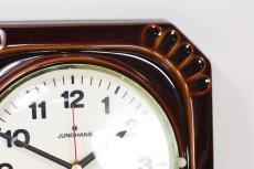 画像2: ビンテージ陶製壁掛け時計/Junghans製/ユンハンス/ドイツ/ブラウン (2)