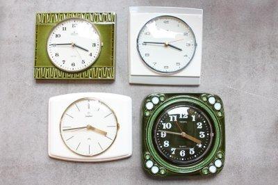 画像1: ヴィンテージ陶製壁掛け時計/Junghans製/ユンハンス/ドイツ/ホワイト