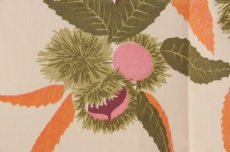 画像1: 北欧ヴィンテージファブリック 秋色 栗柄  ナフキン (1)