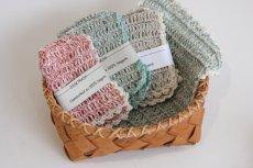 画像3: 北欧スウェーデン 手編み ディッシュクロス リネン100%  生成り (3)