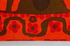 画像4: 北欧ビンテージファブリック/スウェーデン/ヴィンテージファブリック/BORAS /ボロス/ボラス社製 /Parabeli/Saini Salonen/オレンジ/200cm (4)