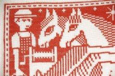 画像2: クリスマス北欧雑貨/スウェーデン/クリスマスクロスステッチ/ハンドメイド/1964年 (2)