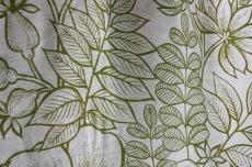 画像3: 北欧ヴィンテージテキスタイル グリーン植物柄 メーターカット (3)