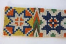 画像3: 北欧ビンテージ/スウェーデン/手織り物/雪結晶 (3)