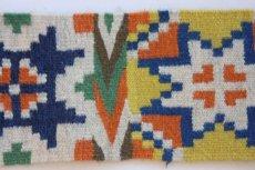 画像2: 北欧ビンテージ/スウェーデン/手織り物/雪結晶 (2)