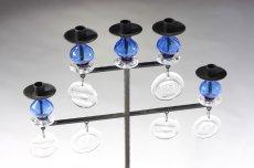 画像3: Erik HoglundエリックホグランBODA ガラスキャンドスタンド ブルー2段5連 (3)