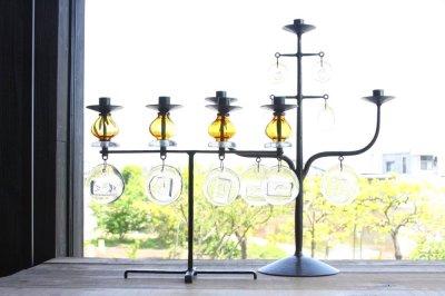 画像1: Erik Hoglund/エリックホグラン/BODA社製/ガラスキャンドスタンド/ツリー型/Lサイズ