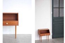 画像8: 北欧ビンテージ家具/デンマーク/ベッドサイドチェスト/チーク×ビーチ (8)