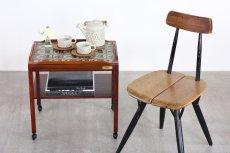画像10: 北欧ビンテージ家具/デンマーク/ロイヤルコペンハーゲンタイルトップ/ワゴン/ローズウッド (10)
