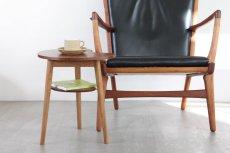 画像7: 北欧家具/ビーンズテーブル/サイドテーブル/チーク&オーク (7)