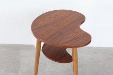画像4: 北欧家具/ビーンズテーブル/サイドテーブル/チーク&オーク (4)