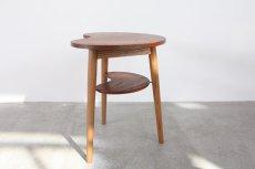 画像2: 北欧家具/ビーンズテーブル/サイドテーブル/チーク&オーク (2)