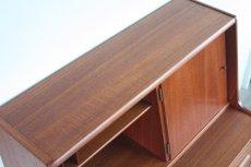 画像8: 北欧ビンテージ家具/デンマーク製/チークライティングビューロー/3段引き出し/鏡付き (8)