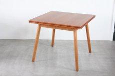 画像4: 北欧ビンテージ家具/デンマーク製 /ポール M ヴォルザー/ダイニングテーブル/チーク&オーク (4)