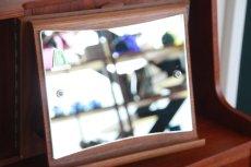 画像12: 北欧ビンテージ家具/デンマーク製/チークライティングビューロー/4段引き出し (12)