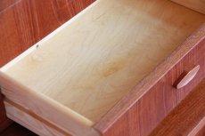 画像7: 北欧ビンテージ家具/デンマーク製/チークライティングビューロー/4段引き出し (7)