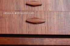 画像10: 北欧ビンテージ家具/デンマーク製/チークライティングビューロー/4段引き出し (10)