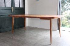 画像9: 北欧ビンテージ/スウェーデン製/ダイニングテーブル/正方形/エクステンション2枚付き/チーク (9)