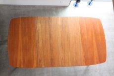 画像8: 北欧ビンテージ/スウェーデン製/ダイニングテーブル/正方形/エクステンション2枚付き/チーク (8)
