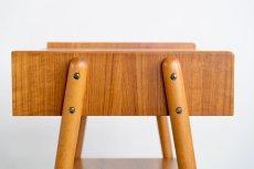 画像4: 北欧ビンテージ家具/スウェーデン/チーク×ビーチ/ベッドサイドテーブル (4)