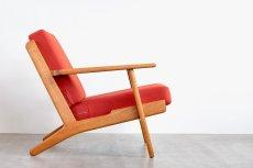画像4: ビンテージ北欧家具/Hans j Wegner/ハンス J ウェグナー/ゲタマ/GE290/オーク/クッションはお好きなカラーで張替え代込 (4)