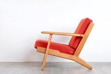 画像3: ビンテージ北欧家具/Hans j Wegner/ハンス J ウェグナー/ゲタマ/GE290/オーク/クッションはお好きなカラーで張替え代込 (3)