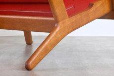 画像7: ビンテージ北欧家具/Hans j Wegner/ハンス J ウェグナー/ゲタマ/GE290/オーク/クッションはお好きなカラーで張替え代込 (7)