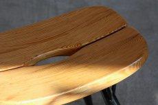 画像3: 北欧ビンテージ家具/フィンランド製/ Ilmari Tapiovaara/イルマリ・タピオヴァーラ/pirkka stool/ピルッカスツール/ハニー&ブラック (3)