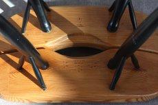 画像5: 北欧ビンテージ家具/フィンランド製/ Ilmari Tapiovaara/イルマリ・タピオヴァーラ/pirkka stool/ピルッカスツール/ハニー&ブラック (5)