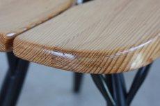 画像4: 北欧ビンテージ家具/フィンランド製/ Ilmari Tapiovaara/イルマリ・タピオヴァーラ/pirkka stool/ピルッカスツール/ハニー&ブラック (4)