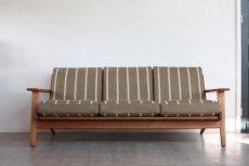 画像2: ビンテージ北欧家具/ハンス J ウェグナー/GE290/3人掛けソファー/オーク (2)