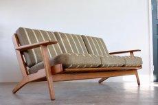 画像3: ビンテージ北欧家具/ハンス J ウェグナー/GE290/3人掛けソファー/オーク (3)