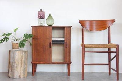 画像1: ビンテージ北欧家具/デンマーク製/ジャバラキャビネット/チーク