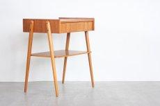画像2: ビンテージ北欧家具/スウェーデン/チーク×ビーチ/ベッドサイドテーブル (2)