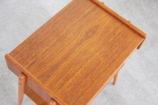 画像4: ビンテージ北欧家具/スウェーデン/チーク×ビーチ/ベッドサイドテーブル (4)