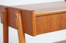 画像3: ビンテージ北欧家具/スウェーデン/チーク×ビーチ/ベッドサイドテーブル (3)