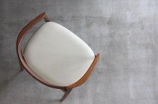 画像5: 北欧ビンテージ家具/デンマーク製/カイ・クリスチャンセン/アームチェア革張替え (5)